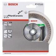 Алмазный круг 115х22 мм по керамике сегмент. BEST FOR HARD CERAMIC BOSCH