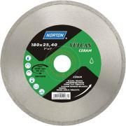 Алмазный круг 125х22.2 мм по керамике сплошн. VULCAN TILE NORTON