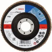 Круг лепестковый 115х22.2 мм K60 плоский STANDARD FOR METAL BOSCH [2608603713]