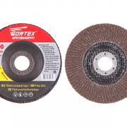 Круг лепестковый 125х22мм P40 плоск. WORTEX [AFD125040F011]