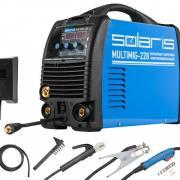 Полуавтомат сварочный Solaris MULTIMIG-228 (MIG-MMA-TIG) без TIG горелк. (220В; Горелка MIG 3м, кабели 2м, доп.аксессуары) [MULTIMIG-228W2]