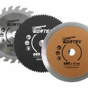 Набор оснастки для мини-пилы WORTEX универсальный АКЦИЯ (3 диска: по дереву, керамике, металлу) [HSS0300K0009A1]