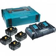 Комплект аккумулятор 18.0 В BL1860B 4 шт. + зарядное устройство DC18RC в кейсе (Набор BL1860B 18V 6,0 Ah 4 шт. + DC18RD)