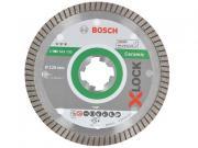 Алмазный круг 125х22 мм по керамике Turbo X-LOCK Best for Ceramic Extraclean BOSCH