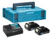 Комплект аккумулятор 12.0 В BL1016 2 шт. + зарядное устройство DC10SB в кейсе (Набор BL1016 12.0V 1,5 Ah 2 шт. + DC10SB)