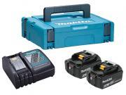 Комплект аккумулятор 18.0 В BL1860B 2 шт. + зарядное устройство DC18RC в кейсе