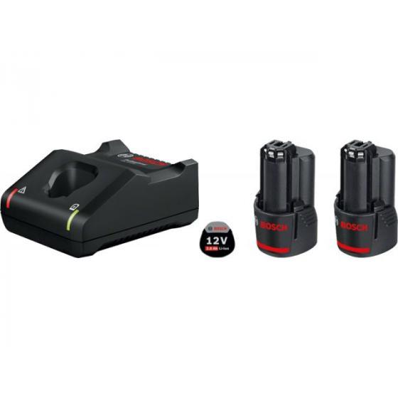 Комплект аккумулятор 12.0 В GBA12 V 2 шт. + зарядное устройство GAL 12V-40 (Набор GBA 12 В 2,0 Ач  2 шт.+ GAL 12V-40)