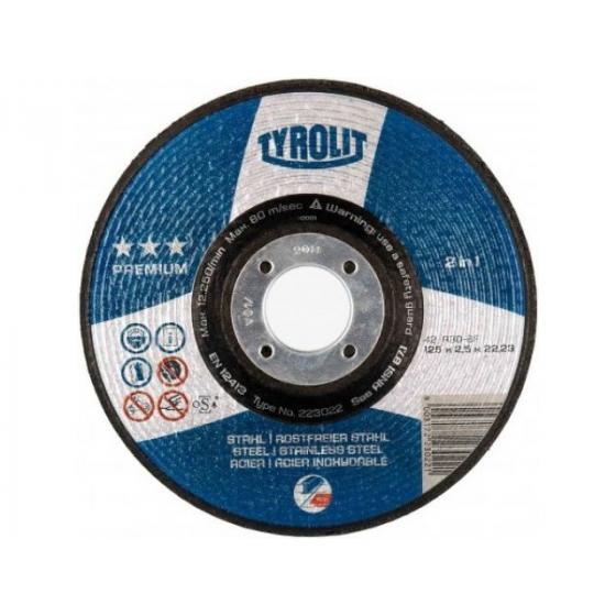 Круг отрезной 115x2,5x22,23 мм A30-BF (металл, нерж.) BasicTYROLIT