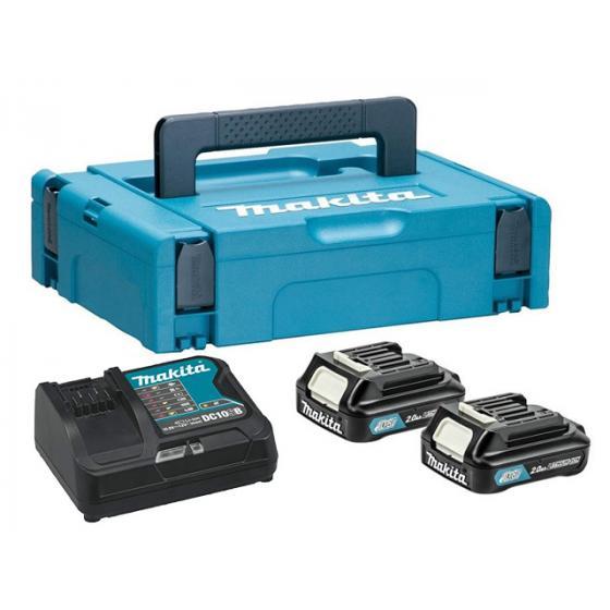 Комплект аккумулятор 12.0 В BL1020B 2 шт. + зарядное устройство DC10SB в кейсе (Набор BL1020B 12.0V 2,0 Ah 2 шт. + DC10SB)