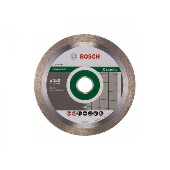 Алмазный круг 150х22 мм по керамике сплошн. BEST FOR CERAMIC BOSCH (сухая резка) [2608602632]