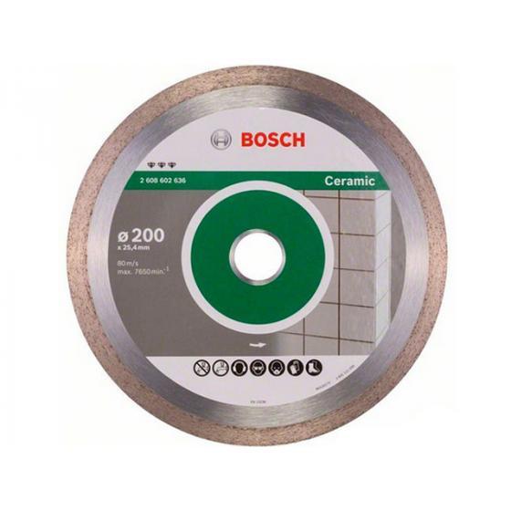 Алмазный круг 200х25.4 мм по керамике сплошн. BEST FOR CERAMIC BOSCH