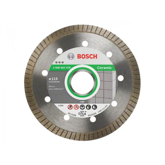Алмазный круг 115х22 мм по керамике Turbo BEST FOR CERAMIC EXTRA-CLEAN BOSCH