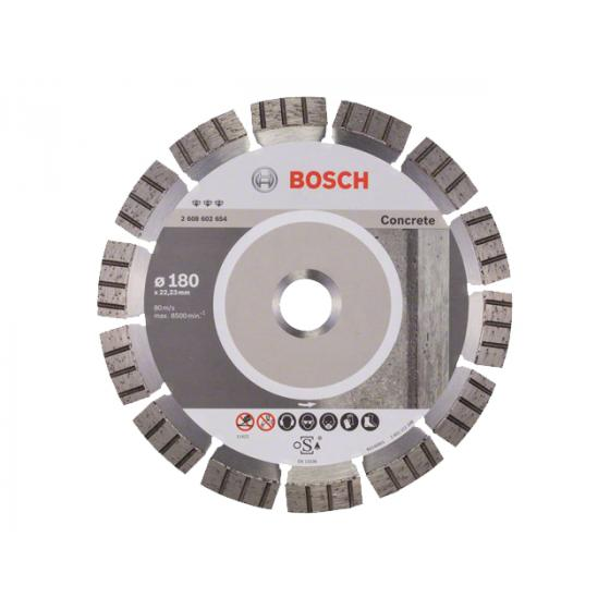 Алмазный круг 180х22 мм по абразив. матер. сегмент. Turbo BEST FOR ABRASIVE BOSCH (сухая резка) [2608602654]