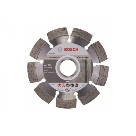 Алмазный круг 115х22 мм по бетону сегмент. EXPERT FOR CONCRETE BOSCH (сухая резка) [2608602555]