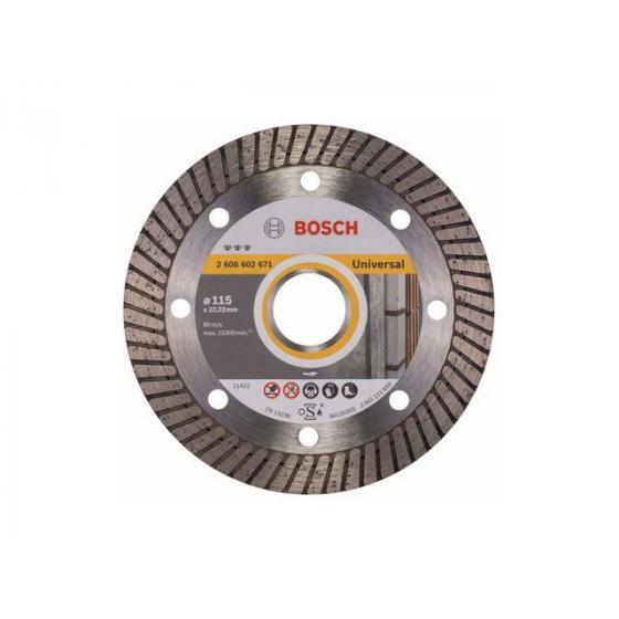 Алмазный круг 115х22 мм универс. Turbo BEST FOR UNIVERSAL BOSCH