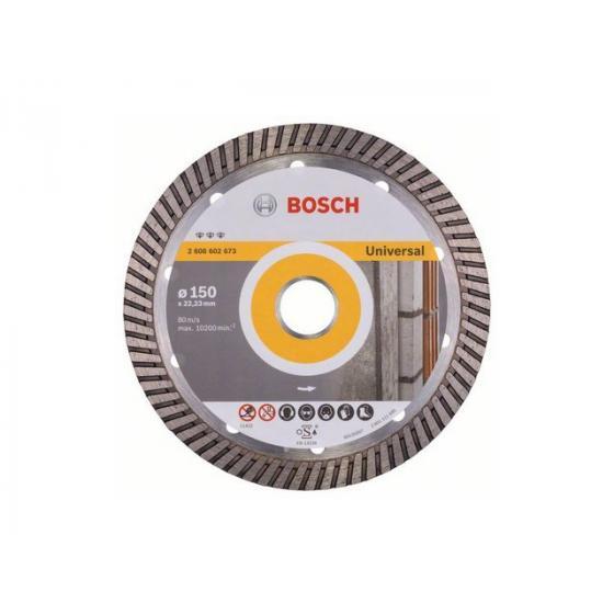 Алмазный круг 150х22 мм универс. Turbo BEST FOR UNIVERSAL BOSCH