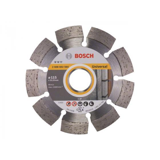 Алмазный круг 115х22 мм универс. сегмент. EXPERT FOR UNIVERSAL BOSCH (сухая резка) [2608602564]