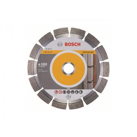 Алмазный круг 180х22 мм универс. сегмент. EXPERT FOR UNIVERSAL BOSCH (сухая резка) [2608602567]