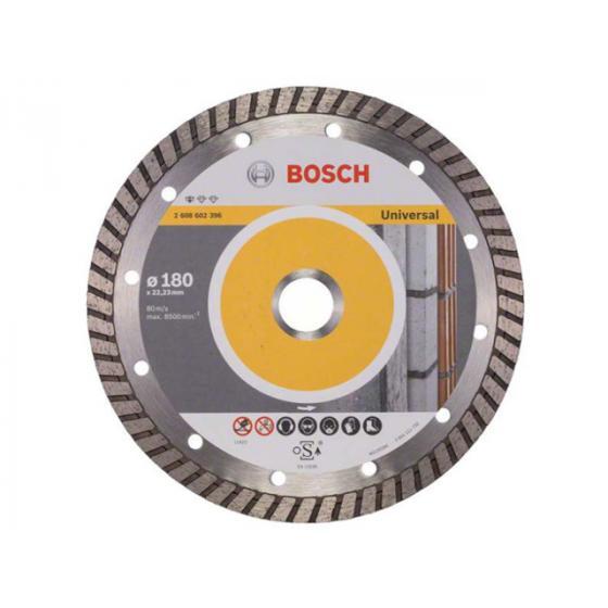 Алмазный круг 180х22 мм универс. Turbo STANDARD FOR UNIVERSAL BOSCH (сухая резка) [2608602396]