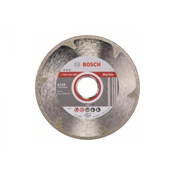 Алмазный круг 115х22 мм по мрамору сплошн. BEST FOR MARBLE BOSCH (сухая резка) [2608602689]