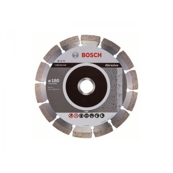 Алмазный круг 180х22 мм по абразив. матер. сегмент. STANDARD FOR ABRASIVE BOSCH (сухая резка) [2608602618]
