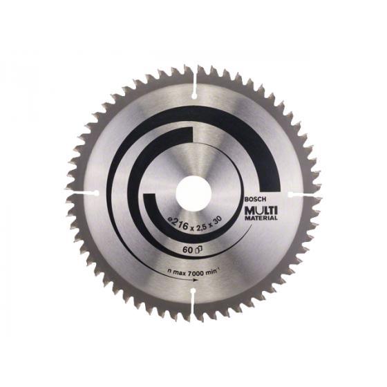 Диск пильный 216х30 мм 60 зуб. универсальный MULTIMATERIAL BOSCH