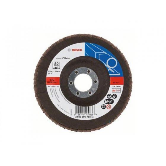Круг лепестковый 125х22 K80 д/мет. (BOSCH) [2608606718]