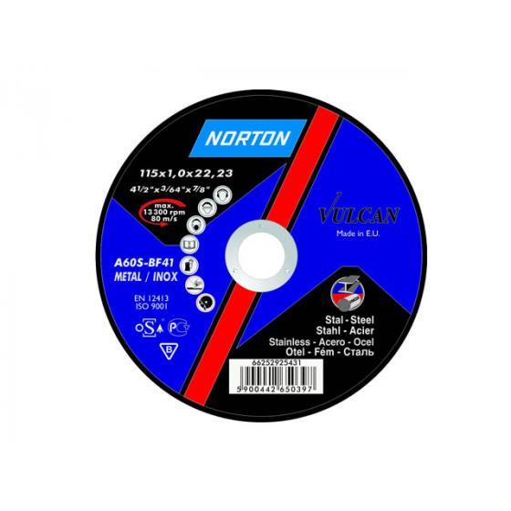 Круг отрезной 125х3.0x22.2 мм для металла Vulcan NORTON