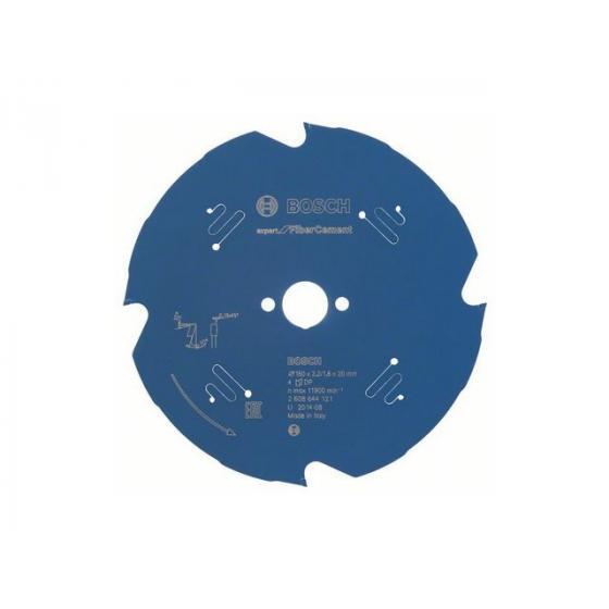 Диск пильный 160х20 мм 4 зуб. по фиброцементу EXPERT FOR FIBER CEMENT BOSCH