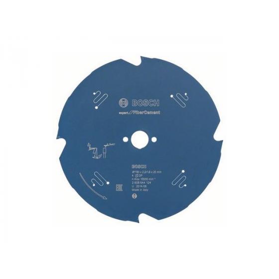 Диск пильный 190х20 мм 4 зуб. по фиброцементу EXPERT FOR FIBER CEMENT BOSCH (твердоспл. зуб) [2608644124]