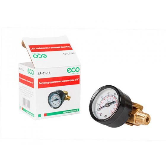 Регулятор давления  с манометром ECO AR-14 на 1/4