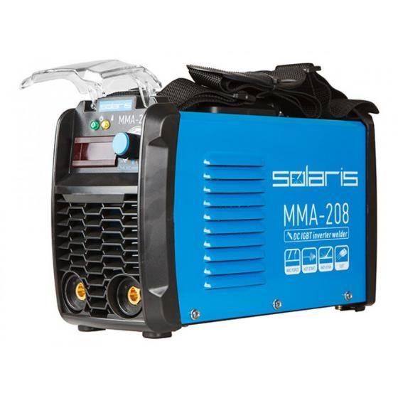 Инвертор сварочный SOLARIS MMA-208 (230В; 20-200 А; 65В; электроды диам. 1.6-4.0 мм; вес 3.9 кг) [MMA-208]
