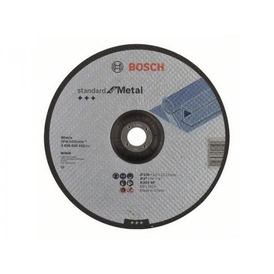 Круг отрезной 230х3.0x22.2 мм для металла Standard BOSCH