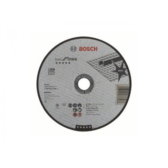 Круг отрезной 180х2.5x22.2 мм для нерж. стали Best BOSCH