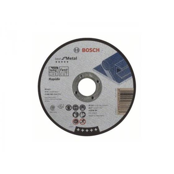 Круг отрезной 125х1.0x22.2 мм для металла Best BOSCH
