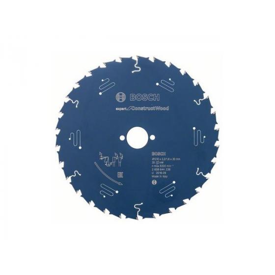 Диск пильный 230х30/25,4 мм 30 зуб. по дереву CONSTRUCT WOOD BOSCH
