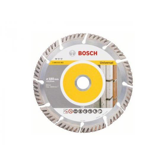 Алмазный круг 180х22 мм универс. сегмент. Turbo STANDARD FOR UNIVERSAL BOSCH (сухая резка) [2608615063]