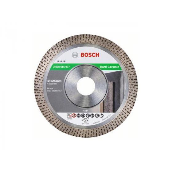 Алмазный круг 125х22 мм по керамике Turbo BEST FOR HARD CERAMIC BOSCH