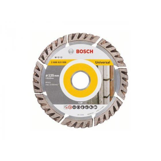 Алмазный круг 125х22 мм универс. сегмент. Turbo STANDARD FOR UNIVERSAL BOSCH