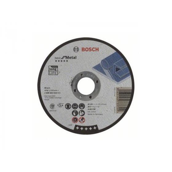 Круг отрезной 125х1.5x22.2 мм для металла Best BOSCH
