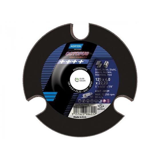 Круг зачистной 125х4.0x22.2 мм для металла А36Т OCTOPUS NORTON