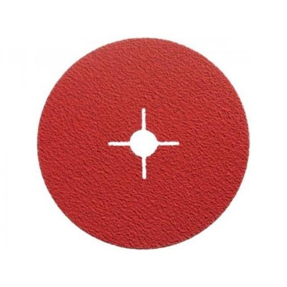 Фибровый шлифкруг 125мм P60 д/мет. нерж. алюм. QUANTUM (125x22 F996 P60 Керамическое зерно)