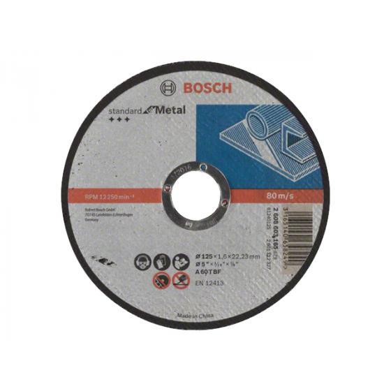 Круг отрезной 125х1.6x22.2 мм для металла Standart BOSCH
